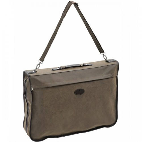 Mock  Nubuck  Suit  Carrier  With  Shoulder  Strap