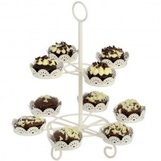 Cream  Cup  Cake  Stand  (10  Cupcakes)