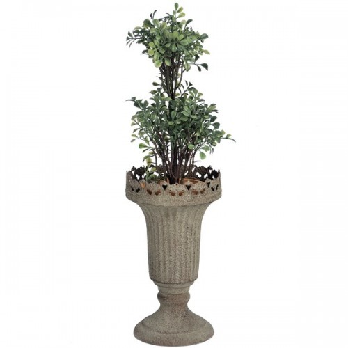 Antique  Cone  Metal  Planter