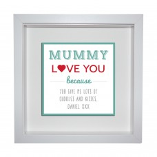 Box Frame Metal Artwork - Mummy