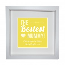 Box Frame Metal Artwork - Bestest Mummy!