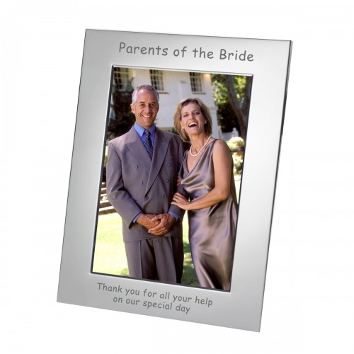 Parents of the Bride Silverplated Frame 7x5