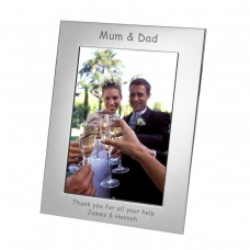 Mum and Dad Silverplated Photo Frame 7x5