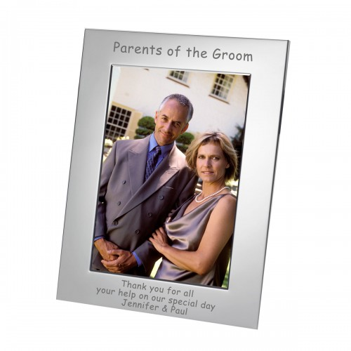 Parents of the Groom Silverplated Photo Frame 7x5