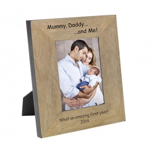 Mummy, Daddy...and Me! Wood Frame 6x4