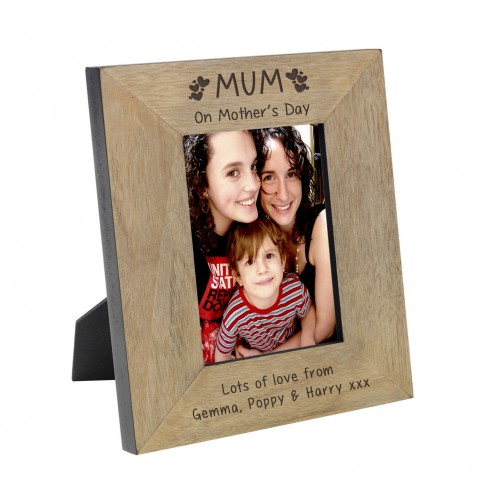 Mum on Mother s Day Wood Frame 6x4