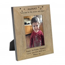 Mummy love you to the moon and back Wood Frame 6x4