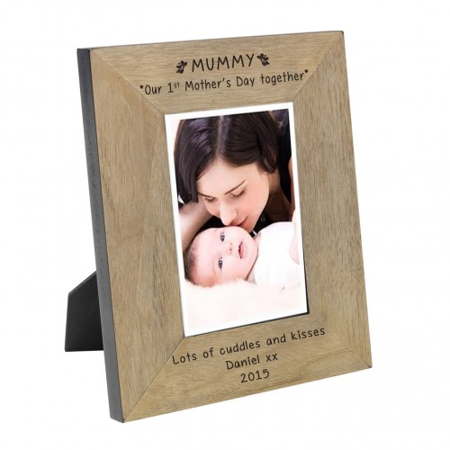 MUMMY Our 1st Mother s Day together Wood Frame 6x4