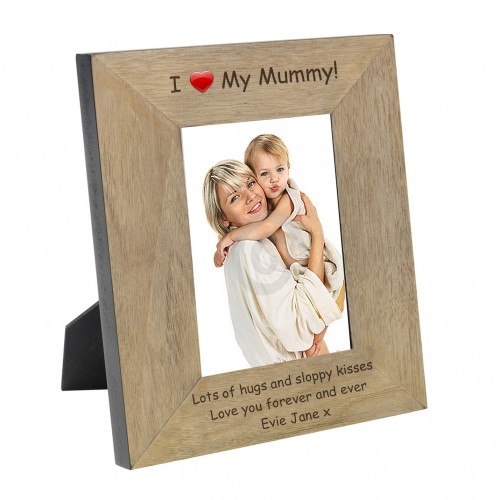 I (Heart) My Mummy Wood Frame 6x4