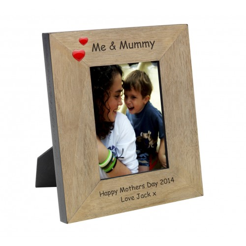 Me and Mummy Wood Photo Frame 6x4
