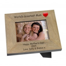 Worlds Greatest Mum Wood Photo Frame 6x4