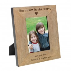 Best Mum in the World Wood Photo Frame 6x4