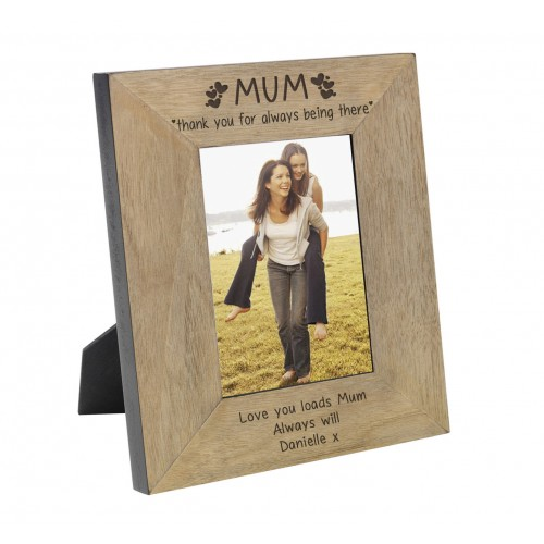 MUM thank you for always being there Wood Frame 7x5