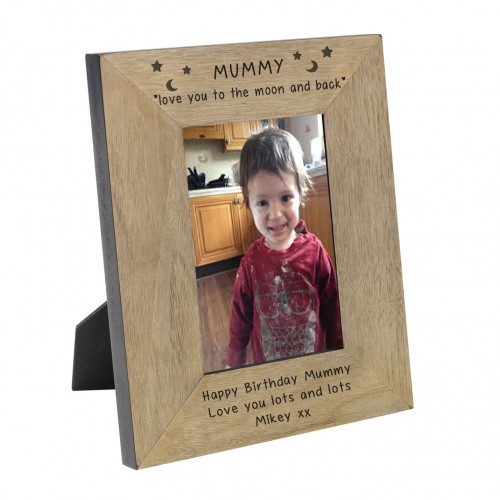 Mummy love you to the moon and back Wood Frame 7x5