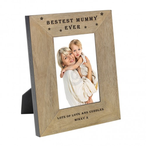 BESTEST MUMMY EVER Wood Frame 7x5