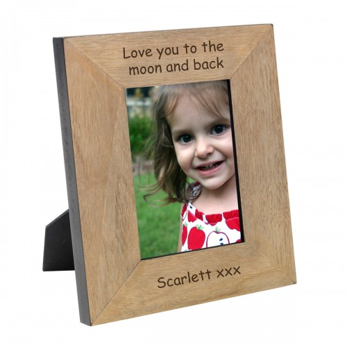 Moon & Back Wood Photo Frame 7x5
