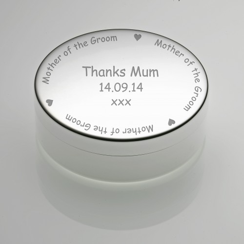 Round Trinket Box - Mother of the Groom