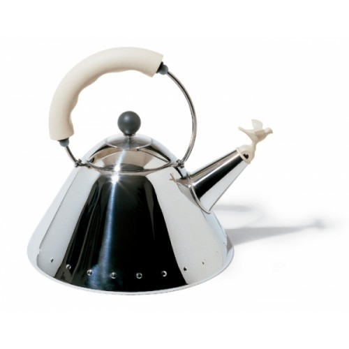 Alessi 'Bird' Stove Top Kettle Ivory White Handle 9093FM/WI