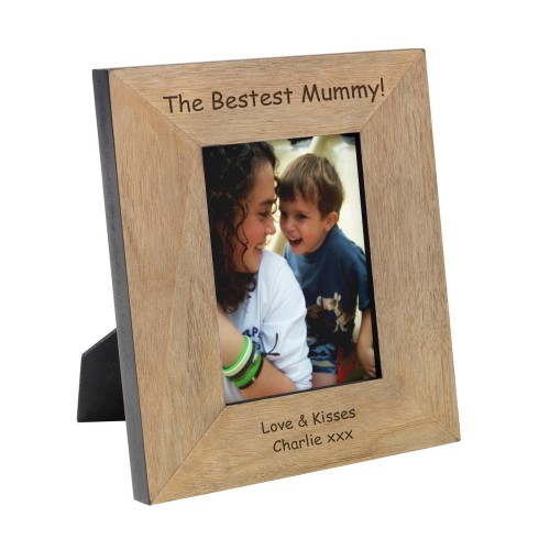 Bestest Mummy Wood Photo Frame 7x5
