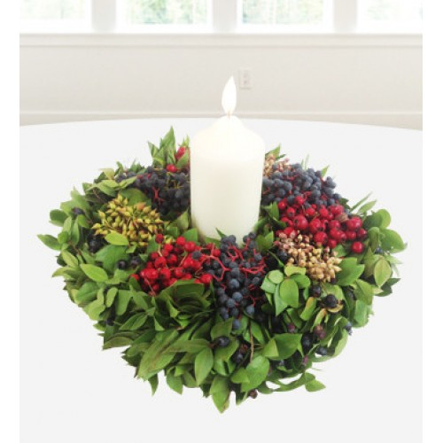 Christmas Candle Wreath