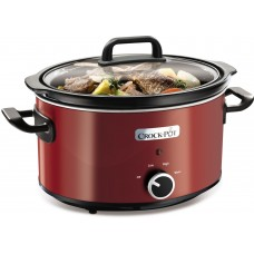 Crockpot 3.5 Litre Slow Cooker SCV400D in Red