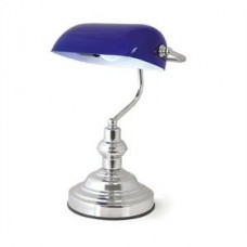 Lloytron Banker's Lamp L1159BL in Blue