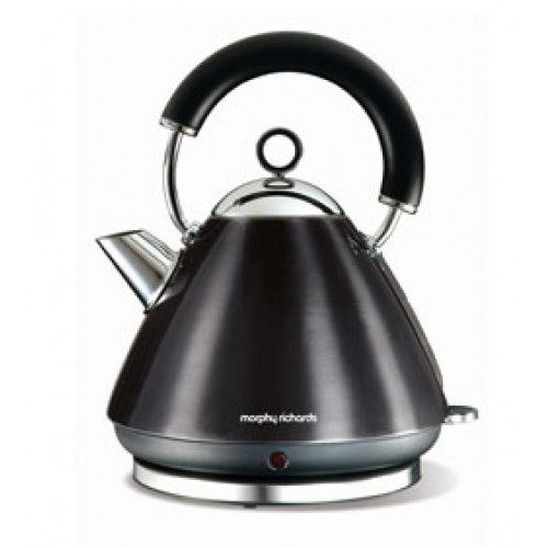 Morphy Richards 102002 Accents Black Traditional Kettle