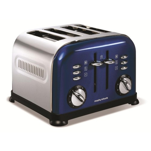 Morphy Richards 44730 Accents Blue 4 Slice Toaster