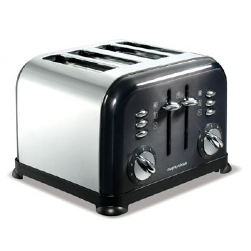 Morphy Richards 44733 Accents Translucent Black 4 Slice Toaster